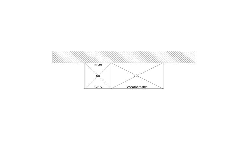Liquidación de muebles columna modelo KARMEL. Cambio de exposición por llegada de novedades.